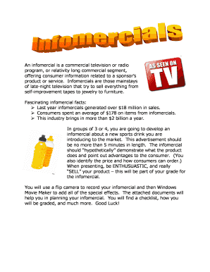 An infomercial is a commercial television or radio - omro k12 wi