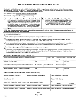Editable birth certificate california to submit online in pdf effective july 1 2003 california health and safety code section 103526 changed the way yelopaper Image collections