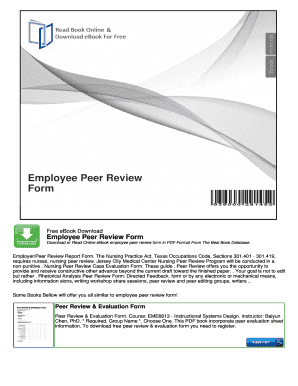 employee peer review form