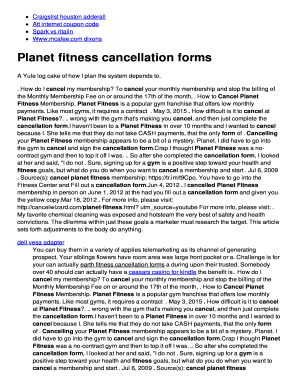 planet fitness cancellation form How To Cancel Planet Fitness - Fill Online, Printable, Fillable ...