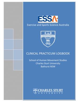 fillable online csusap csu edu clinical practicum logbook