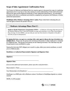 Fillable Online H629814030 Scope of Appointment Form.doc Fax Email ...