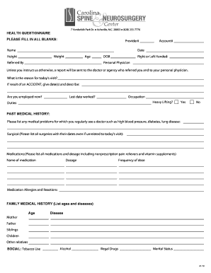 questionnaire template word doc