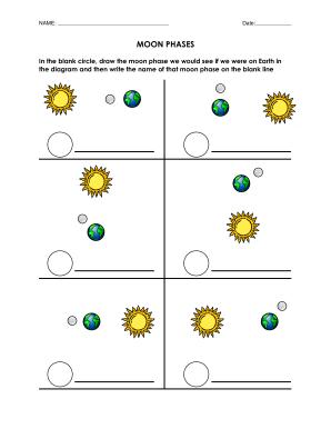 Moon Phase Worksheet Printable - Fill Online, Printable, Fillable ...