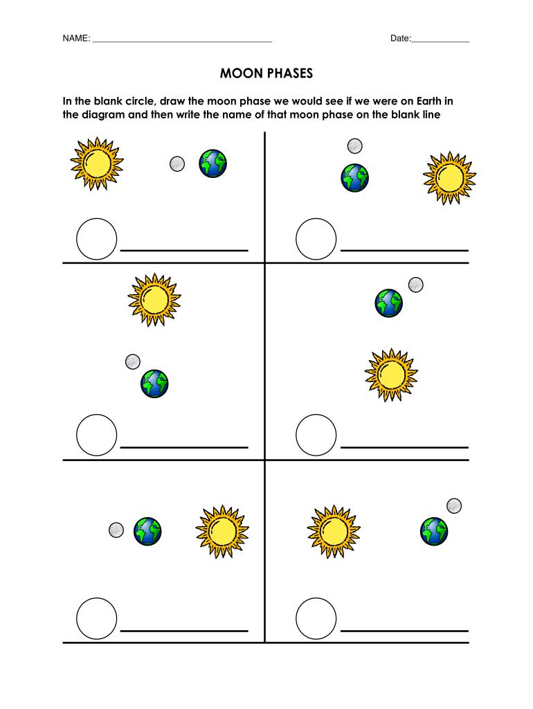 Moon Phases Diagram Worksheet Pdf - Fill Online, Printable Regarding Moon Phases Worksheet Pdf