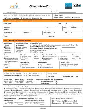 Client Intake Form - marylandcapitalorg