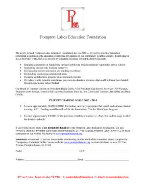 plps k12 Fillable Online plps-k12 Pompton Lakes Education Foundation - plps ...
