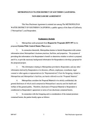 Non Disclosure Agreement California Edit Online Fill