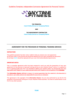 Independent Contractor Agreement for Fitness Faktor Personal Trainers Final Draft November 2013BLANKdocx