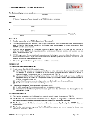 ITSMFA NON DISCLOSURE AGREEMENT - cymcdncom