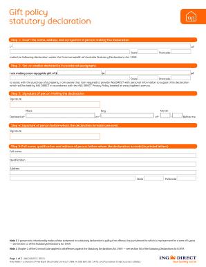 Statutory declaration form nsw templates fillable printable gift policy statutory declaration ing direct australia altavistaventures Choice Image
