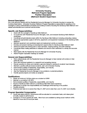 mailroom supervisor resume fill out online download printable