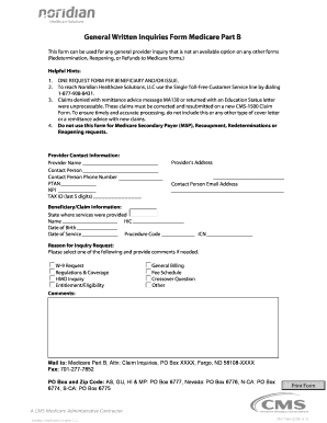 Medicare Inquiries - Fill Online, Printable, Fillable, Blank ...