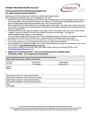 how to fill out a health insurance claim form to Download ...