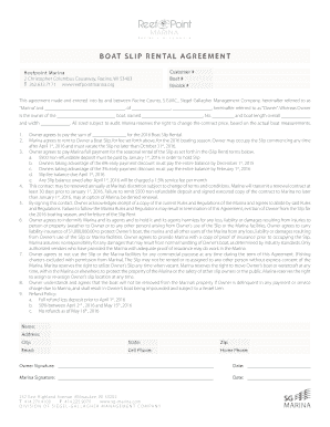Boat Storage Rental Agreement Edit Fill Print Download