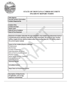 state of montana cyber security incident report form sitsd mt