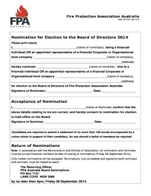 Fillable Online FIRE PROTECTION ASSOCIATION AUSTRALIA Fax