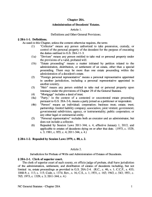 administration of estates act pdf