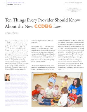 Ten Things Every Provider Should Know About the New CCDBG Law