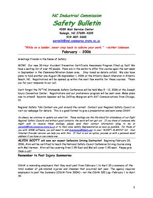 Nc industrial commission safety bulletin fill online printable nesc maxwellsz