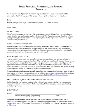 THESIS PROPOSAL AGREEMENT AND TIMELINE TEMPLATE - honors oregonstate