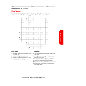 8.1 key terms crossword