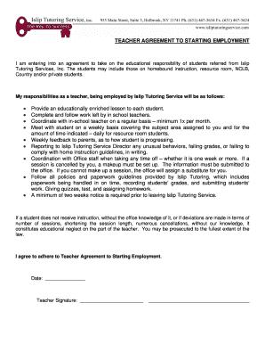 Teacher employment agreement the best agreement of 2018 employment agreement contract best resumes platinumwayz