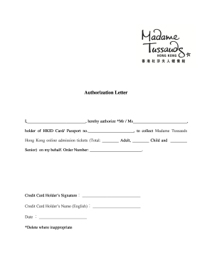 Authorization letter format madame tussaud fill online printable authorization letter format madame tussaud spiritdancerdesigns Gallery