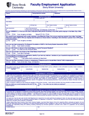 Employment Application Stony Brook University   Association Of  Employment Verification Letter Template Microsoft