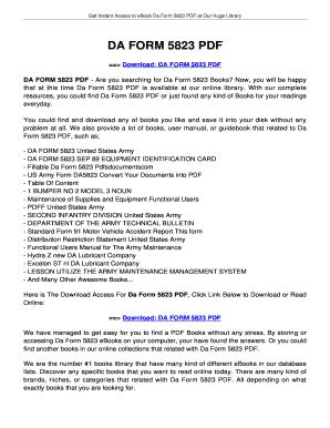Fillable Online jansbooks DA FORM 5823. DA FORM 5823 Fax Email ...