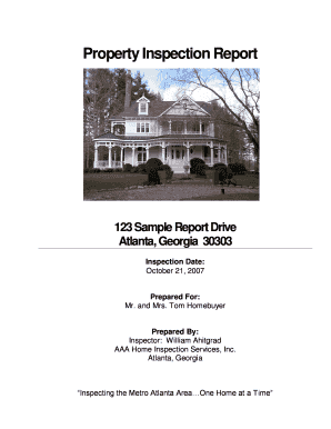 Property Inspection Report - AHIT