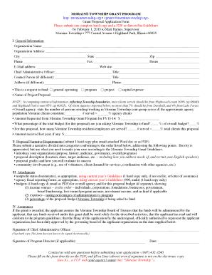 non profit proposal template