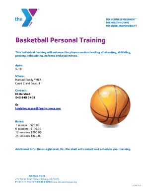 Editable individual basketball shooting workouts pdf - Fill