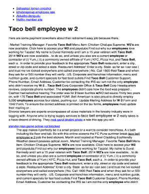 Fillable Online Taco bell employee bw 2b Fax Email Print - PDFfiller
