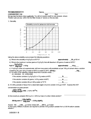 Solubility Graph Worksheet Answers - Promotiontablecovers