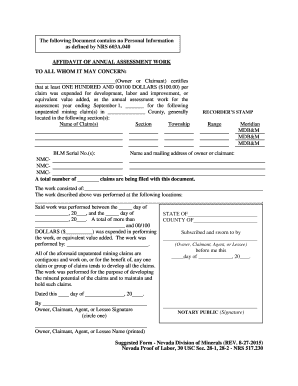 To whom it may concern letter ending to download editable recorders stamp the following document contains no personal information as defined by nrs 603a040 affidavit of annual assessment work to all whom it may spiritdancerdesigns Gallery