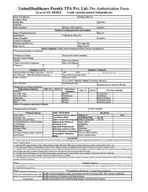 United Healthcare Parekh Claim Form - Fill Online, Printable ...