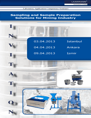 Sampling and Sample Preparation Solutions for Mining Industry - mta gov