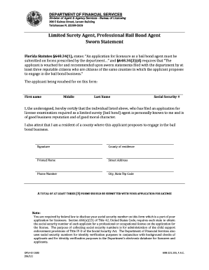 Sworn Statement DFS H2 1500  Example Of Sworn Statement