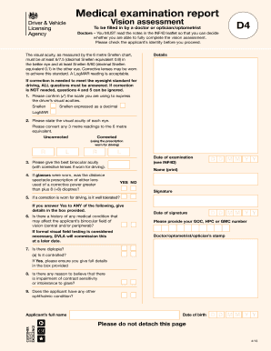 Dvla-d4-medical-form-pdf - ablemedhealth co