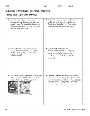 lesson 6 problem solving practice Fillable Online Lesson 6 Problem-Solving Practice - TypePad Fax ...