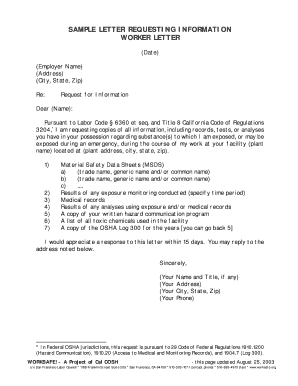 Printable request for information letter - Fill Out & Download