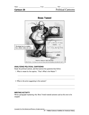 Fillable Online Name Class Date Political Cartoons Cartoon