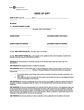 DEED OF GIFT - BMO