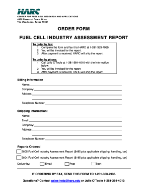 ORDER bFORMb FUEL CELL INDUSTRY ASSESSMENT REPORT - files harc