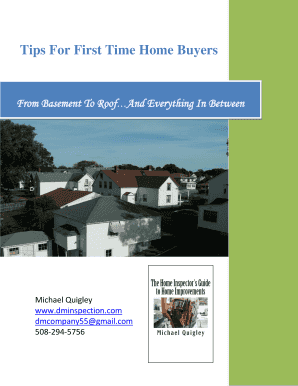 Editable home inspection tips first time buyers - Fill