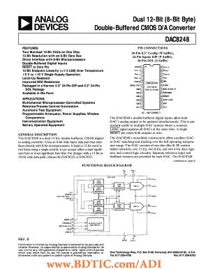 Fillable Online DAC8248 Dual 12-Bit (8-Bit Byte) Double