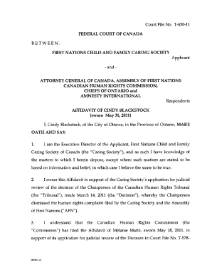 Printable Canadian general affidavit Ontario - Edit, Fill