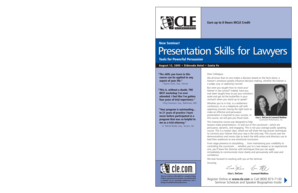 Presentation Skills for Lawyers r Lawyers r Lawyers - CLE bb