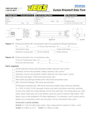 Jegs Driveshaft - Fill Online, Printable, Fillable, Blank ...